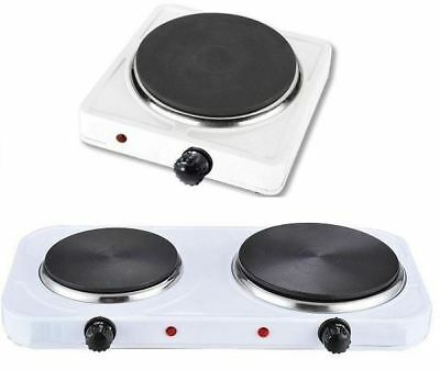 New Single/Double Hotplate Cooker Portable Hob Electric Table Top Cook Fresh