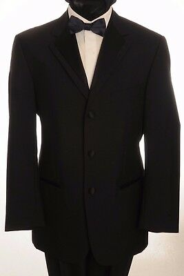 Dj-3 Mens Formal Single Breasted Dinner Suit, 2 Piece Suit & Wing Collar