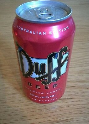 Duff Beer Australian Edition collectable Can
