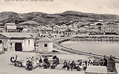 Postcard of Bluff, New Zealand, with 1912 postmark