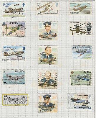 Thematic Stamps - Planes - RAF/Battle of Britain/Hurricane + set  of unused PHQ