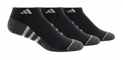 Adidas Mens Performance Low Cut Climate + Cushioned Socks  Size 6-12  (3 Pairs)