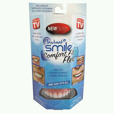 UK Perfect Instant Smile Comfort Fit Flex Teeth Top Cosmetic Veneer One Size New