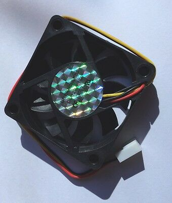 60mm Black 12 Volt 0.18A Graphics Chipet HDD Fan 3 Pin Power Connector