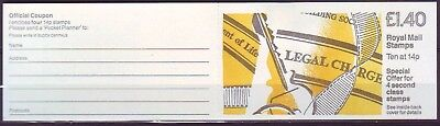 Qe Ii Gb 1988 Pocket Planner Legal Charge 1 Booklet Fm5 Mnh Low Shipping