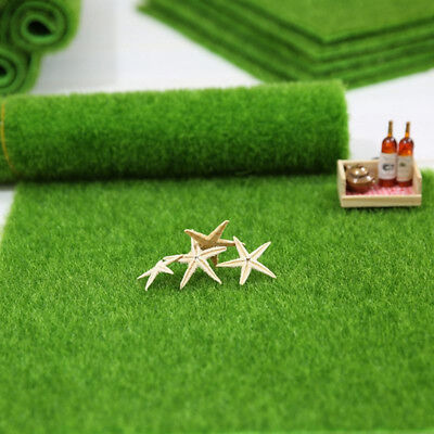 Popular Square Fake Lawn Ornament Dollhouse Artificial Grass Garden Decor Turf