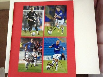 4 Signed Cardiff City Player Photos