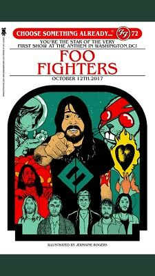 Foo Fighters Poster The Anthem 10/12/17 Washington DC Jermaine Rogers Sold Out