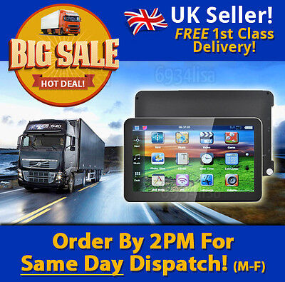 FREE UPDATES! 2017 MAPS! 7 inch TRUCK SAT NAV hgv/caravan/motorhome/car UK STOCK