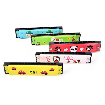 Kids Metal Cartoon 16 Holes Harmonica Mouth Organ Musical Instruments Toy FG