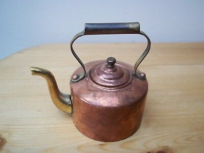 Miniature Copper and Brass Kettle . Beerage made in England Vintage 7.5cm high