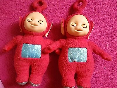 Original 1996 Teletubbies Po Doll Soft Toy With Moving Eyes - By Golden Bear
