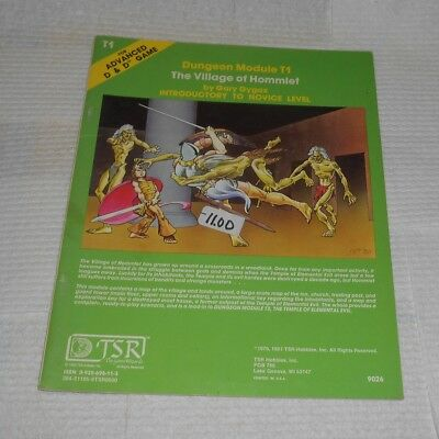 Advanced Dungeons & Dragons Module T1 The Village Of Hommlet TSR Gary Gygax RPG