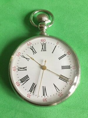 POCKET WATCH  BLACK/RED NUMBERS  - Full Size , Open Face
