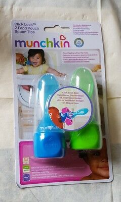 Munchkin Click Lock 2 food pouch spoon tips