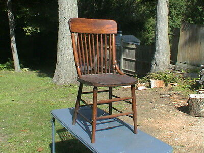 Vintage Wooden Spindle Chair.Very old and Refinished