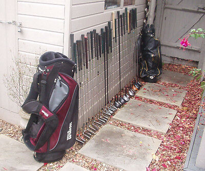 A Job Lot Of 29 Golf Clubs With Two Bags