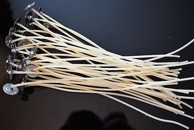 🔥180mm (18cm) Candle Pre-Waxed Cotton Wicks Pre-Tabbed For Home Candle Making