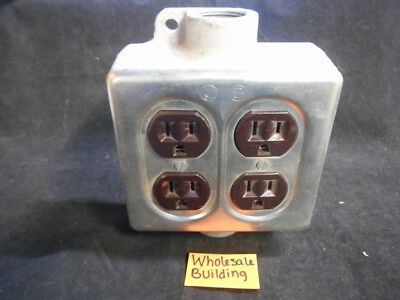 Crouse-Hinds Conduit Outlet, 1/2 Fsc 12, 3/4 Fsc 222