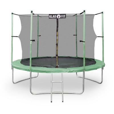 Klarfit Rocketstart Green Xxl 10 Feet Trampoline Includes Safety Net 10Ft