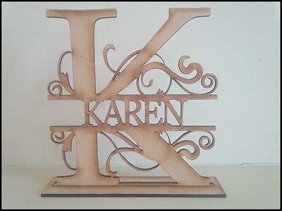 Free standing Personalised Letter MDF blank craft Plaque/sign