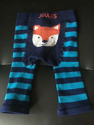 Joules Fox Blue Striped Leggings 6-12 Months