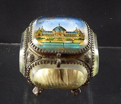 French Glass and Ormolu Jewellery Casket Bordeaux Exhibition of 1895