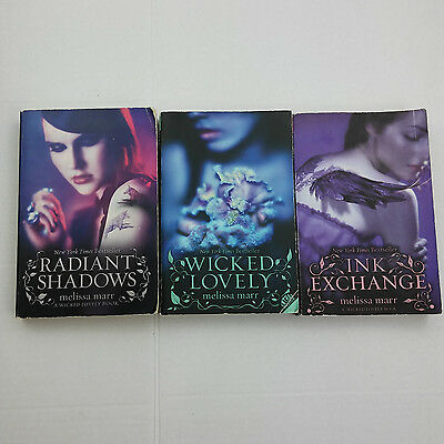 Melissa Marr Books 3 Lot PB Ink Exchange WICKED LOVELY Radiant Shadows
