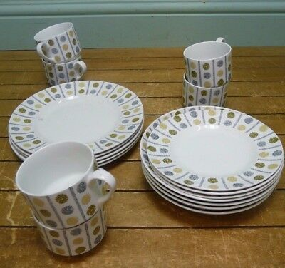 Set of Oakley Stylist Midwinter Tableware designed by Marquis of Queensbury