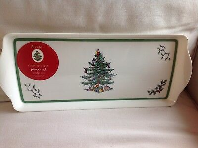 SPODE  PIMPERNEL  christmas tree Sandwich Tray BNWT