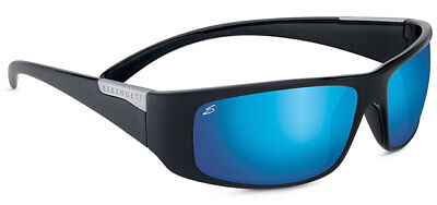 a36808f5cb2 Serengeti Fasano Sunglasses - 8219 - Shiny Black w  Polar PhD 555 Blue Lens