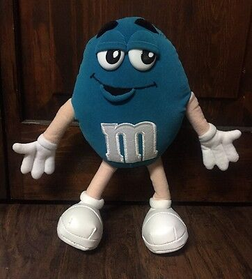 "Cute 1997 Blue Green Velour ""M & M"" 11"" Collectible Plush EUC"