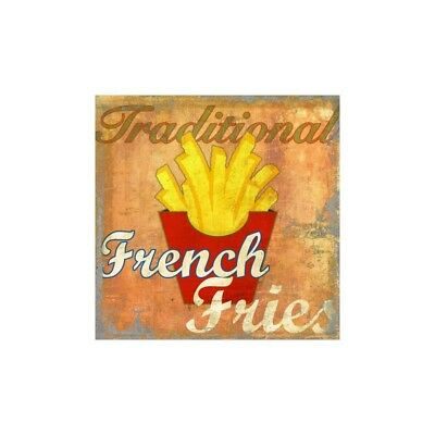 French Fries,Skip Teller-Immagine di Design con classiche patatine su Canvas,Pos