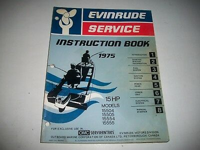 1975 Evinrude ( Johnson) Outboard 15 Hp Service Shop Repair Instruction Manual