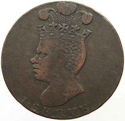 BARBADOS PENNY 1788 PINEAPPLE   #t25 425