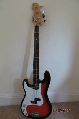 Squire by Fender ( Left Hand ) Precision Bass - Sunburst Finish, Preowned.