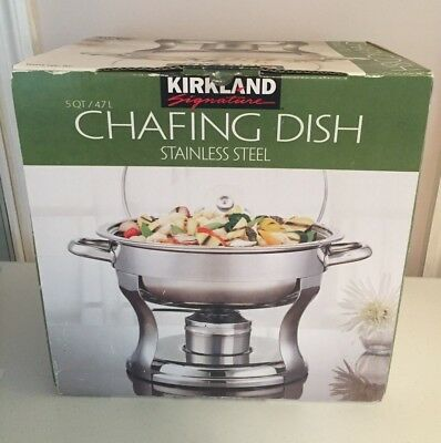 New - Kirkland Stainless Steel 5 Quart Chafing Dish