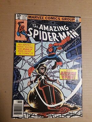 the AMAZING SPIDER-MAN # 210  1ST APPERANCE OF MADAME WEB 1980