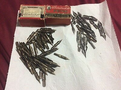 Vintage R.Esterbrook 048, 788, 608, 513, etc. Art & Drafting pen nibs approx 103