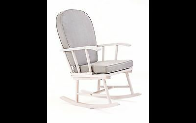 Mothercare Nursing Rocking chair - White with grey cushion [Grade A]