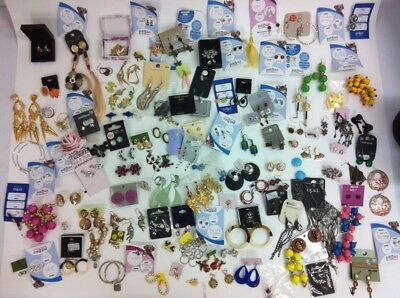Job Lot of Approx 125 Pairs of Used and New Earrings - Perfect for Resale!
