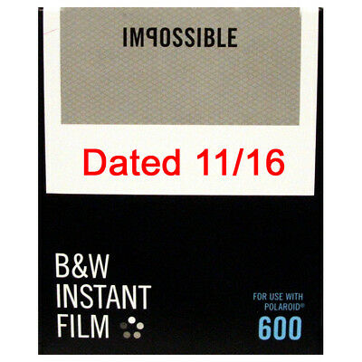 Impossible 600 Type BLACK AND WHITE Instant Film - DATED 11/2016