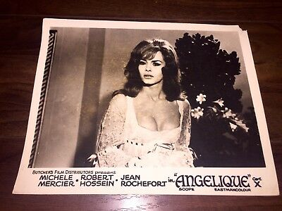 Angelique 1964 Horror UK Lobby Card Set Quad poster art Michèle Mercier French
