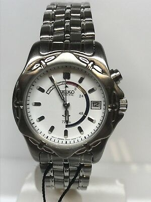 Seiko Watch Kinetic Vintage Lady Steel Wr Discounted New