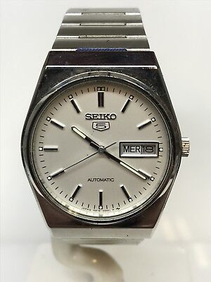 Seiko Watch 5 Vintage Automatic Steel Date Complete 32mm Discounted New
