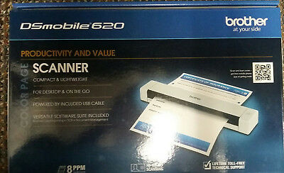 Brother DSmobile 620 Color Scanner - Barely Used in Box (used only couple times)
