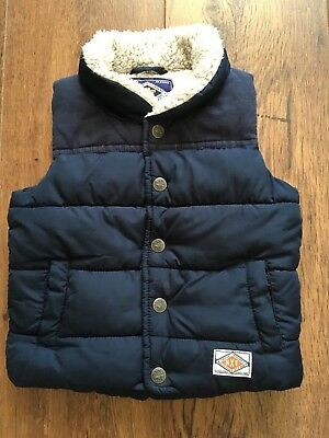 Next Baby Boys Lined Body Warmer Age 9-12 Mths