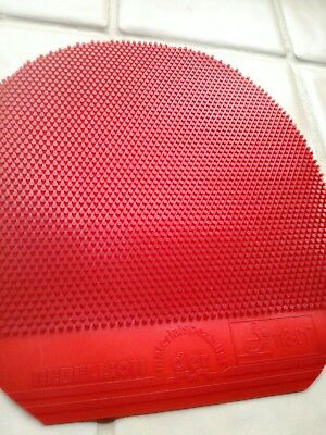 Der Materialspezialist Rebellion Long Pimples Table Tennis Rubber - Red 0.5mm