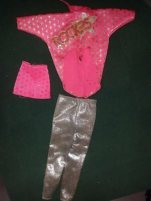 Barbie Superstar Rockers 2nd edition 80s, outfit