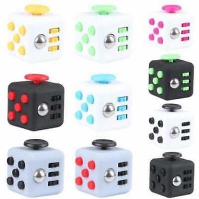 Hot!! Fidget Cube Stress Anxiety Relief Desk Toy EDC 6 Sided For Adults Kids